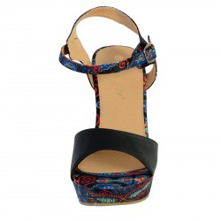 Sandales Compensées Lisa Bendi LB2481 Noir