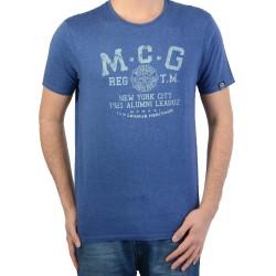 T shirt Mcgregor Basic Sportwear Del.3 Bleu 20.3100.61.120