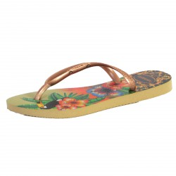 Tong Havaianas H.Slim Tropical Sand Grey / Rose Gold