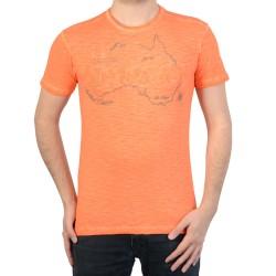 T-Shirt Geographical Norway Jebel SS Men 100 Mandarine