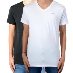 Pack de 2 Tee Shirt Kaporal Enfant Grift Noir / Blanc