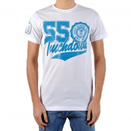 T-Shirt Be and Be Touchdown 55 Blanc / Turquoise