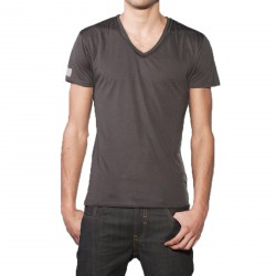 T-Shirt Eleven Paris Basic V SS Gris Rock