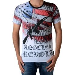 Tee Shirt Celebry Tees Gun America Noir / Rouge