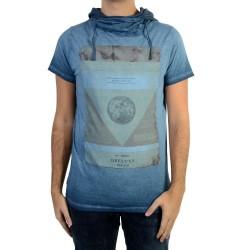 Tee Shirt Deeluxe Newflood S17155 Ink Blue