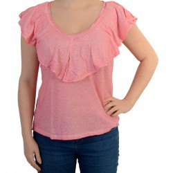 Tee Shirt Pepe Jeans Kasia Washed Coral