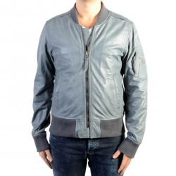 Blouson Cuir redskins Casting Marvin Blue Denim