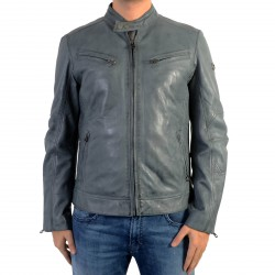 Veste En Cuir Redskins Lynch Casting Blue Denim
