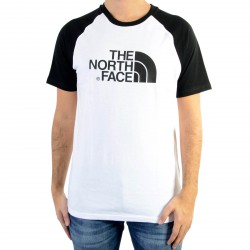 Tee Shirt The North Face T937FVLA9 Raglan Easy Tee White Black