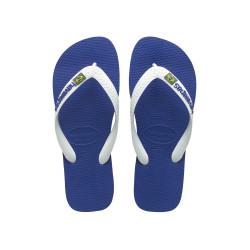 Tong Havaianas H Brazil Logo pour Homme Bleu Marine