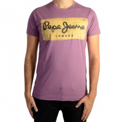 Tee Shirt Pepe Jeans Charing Burgundy