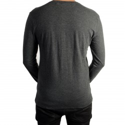 Tee Shirt Kaporal Vizu Dark Grey Melanged