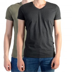 Pack de 2 Tee Shirt Kaporal Gift Army / Dark Grey Melanged