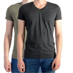 Pack de 2 Tee Shirt Kaporal Gift Army / Dark Grey Melanged