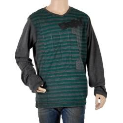 T-Shirt Enfant Diesel Manches Longues Tirer K900 Noir / Vert