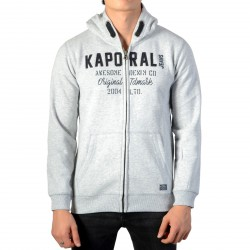 Sweat A Capuche Kaporal Enfant Nutin Grey Melanged