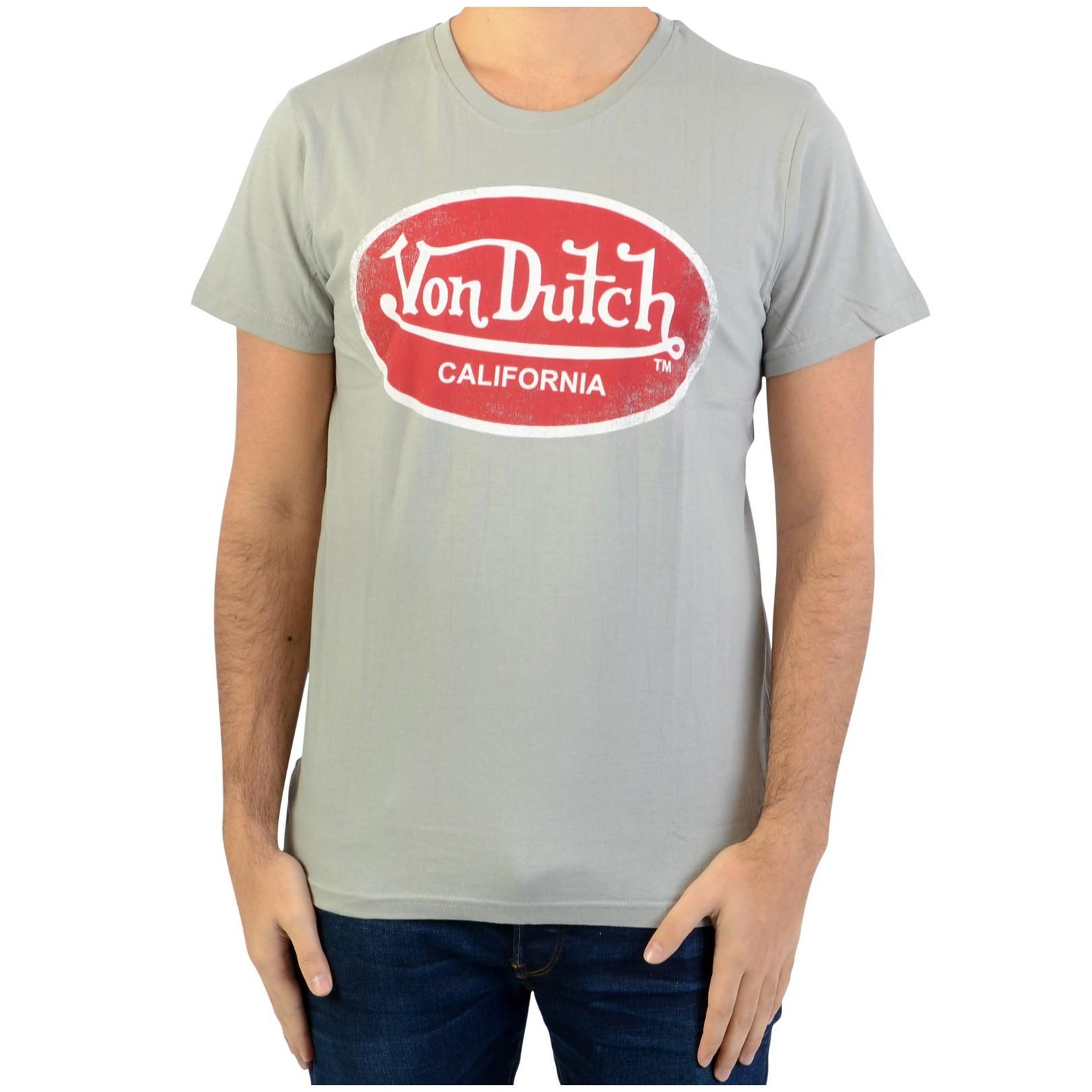 Tee Shirt Von Dutch Aaron 04 Grey/Red